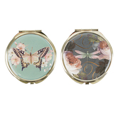 Punch Studio, Floral Compact Mirror, Various Designs, 2 1/2 inches