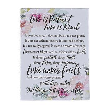 Dexsa, Woodland Grace, 1 Corinthians 13 Love Is Patient Love Is Kind Magnet, 3 x 4 inches