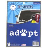 Enjoy It LLC, Adopt and Paw Pet Stickers, Vinyl, White