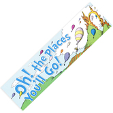 Eureka, Dr. Seuss Oh the Places Balloons Classroom Banner, Multi-Colored, 45 x 12 Inches, 1 Each