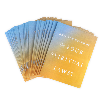 Four Spiritual Laws Tracts, Set of 25