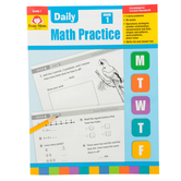 Evan-Moor, Daily Math Practice Teacher's Edition, Paperback, 128 Pages, Grade 1