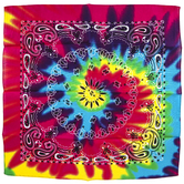 Tie Dye Paisley Print Pet Bandana, Cotton, Multi-Colored, 21 1/2 x 21 1/2 Inches, 1 Piece