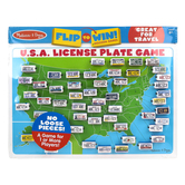 Melissa & Doug, U.S.A. License Plate Travel Game, 14 1/4 x 9 3/4 inches, Ages 8 & Older