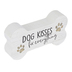 P. Graham Dunn, Dog Kisses Fix Everything Bone Shaped Plaque, Wood, 5 1/4 x 2 3/4 inches
