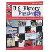 Carson-Dellosa, U.S. History Puzzles, Book 3 Resource Book, Grades 5-8, Paperback, 48 Pages