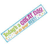 TREND enterprises, Inc., Today's A Great Day To Do Your Best! Quotable Expressions® Banner, 8 x 36 Inches