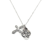 Roman, Inc., Confirmed in Christ Girl's Necklace, Brass and Zinc, 15 inches