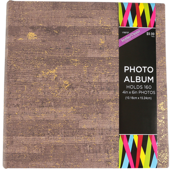 Brother Sister Design Studio, Brown with Gold Flecks Photo Album, 9.25 x 8.50 Inches, 160 Photo Slots