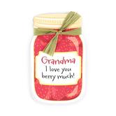 Imagine Design, Grandma I Love You Berry Much Magnet, Red, 2 1/4 x 3 3/4 inches