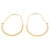 His Truly, Twist Hoop Dangle Earrings, Zinc Alloy, Gold