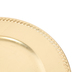Gold Leaf Brushed Metallic Plate Charger, Plastic, 13 inches