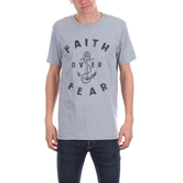 NOTW, Faith Over Fear Anchor, Men's Short Sleeve T-shirt, Gray Heather, S-2XL