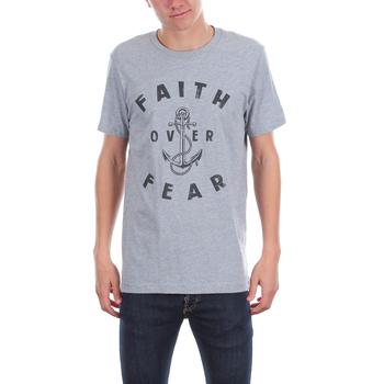 NOTW, Faith Over Fear Anchor, Men's Short Sleeve T-shirt, Gray Heather, S-2XL