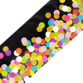 Teacher Created Resources, Colorful Confetti on Black Straight Border Trim, Trimmer, Multi-Colored, 35 Feet