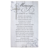 Abbey and CA Gift, A Unity Of Three Wall Plaque, MDF, White & Gray, 17 x 10 x 1 3/4