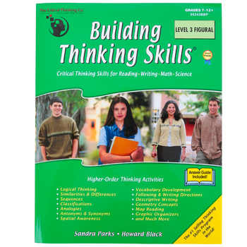 The Critical Thinking Co., Building Thinking Skills Level 3 Figural, Paperback, 288 Pages, Grades 7-12