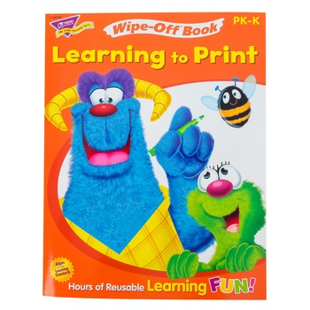 TREND, Learning to Print Wipe-Off Book, 27 Pages, Grades PreK-K