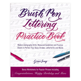 Brush Pen Lettering Practice Book, by Grace Long, Paperback, 144 Pages
