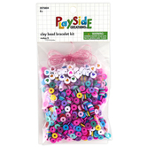 Playside Creations, Clay Bead Bracelets, Assorted Colors, Pack of 6