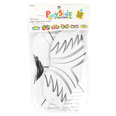 Playside Creations, Paper Super Hero Masks, White, 24 Count