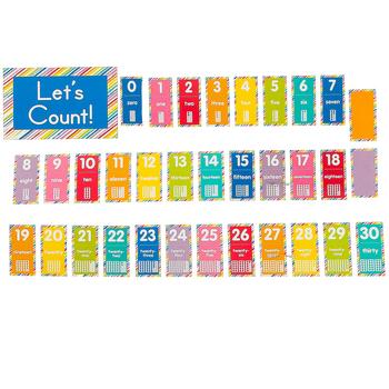 Schoolgirl Style, Just Teach Number Cards Bulletin Board Set, 27 Pieces, Grades PK-2