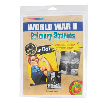 Gallopade, World War 2 Primary Sources Series, Grades 1-6, 8.5 x 11 Inches, 20 Pieces