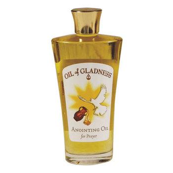 Oil of Gladness, Frankincense and Myrrh Anointing Oil, Decorative Altar Bottle, 3 1/2 Ounces