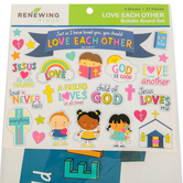 Renewing Minds, Love Each Other Mini Bulletin Board Set, 27 Pieces