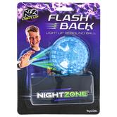 Toysmith, NightZone Light Up Flash Back Rebound Ball, 3 inches