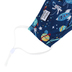 Stephen Joseph, Space Print Face Mask for Kids, Polyester, Navy, 6 1/2 x 4 1/4 inches