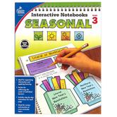 Carson-Dellosa, Interactive Notebooks: Seasonal Resource Book, Paperback, Reproducible, 96 Pages, Grade 3
