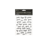 the Paper Studio, Inspirational Doodles Stickers, Clear, 62 pieces