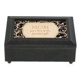 Carson Home Accents, Mom Your Love Is The Greatest Gift Music Box, Wood, 4 x 6 x 2 1/2 inches
