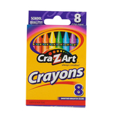 Cra-Z-Art Crayons, Assorted Colors, Box of 8