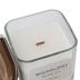 Wickology, Italian Linen Jar Candle, Wooden Wick, 13.6 Ounces