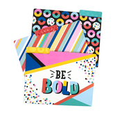 Colorfetti Collection, File Folders, 3 Assorted Designs, Multi-Colored, 12 Count