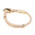 Radiant Sol, Leather Bracelet with Gold Cross, Leather and Zinc Alloy, Taupe and Gold
