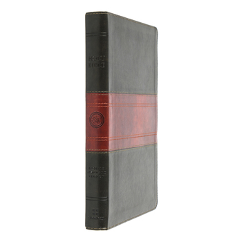 ESV Large Print Thinline Reference Bible, TruTone, Forest & Tan, Trail Design