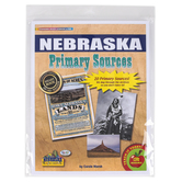 Gallopade, Nebraska Primary Sources, by Carole Marsh, Card Stock, 20 Documents, Grades 3-12