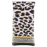 Lady Jayne, Mixed Leopard Stripe Eyeglass Case, Soft, 3.50 x 7, Dusty Rose, Black, White, and Tan