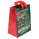 Renewing Faith, Its Not Whats Under The Tree Christmas Gift Bag, Multiple Sizes Available