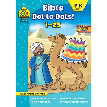 School Zone, Bible Dot-to-Dots! 1-25, by Linda Standke and Julie Anderson, Paperback