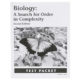 Christian Liberty Press, Biology A Search For Order in Complexity Test Packet, 2nd Ed., Grades 10-12