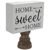 Home Sweet Home Tabletop Decor, Brown, White, and Black, 5 7/8 x 7 1/4 x 2 inches