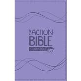 ESV Action Bible, Study Bible, Duo-Tone, Purple