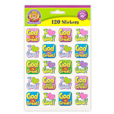 Teacher Created Resources, God is Great Stickers, 1 x 1 Inch, Multi-Colored, Pack of 120
