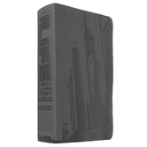 NLT Teen Life Application Study Bible, Leatherlike, Black, Steel City