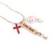 Modern Grace, 1 Corinthians 13:13 Faith Hope Love Charm Necklace, Rose Gold, 20 Inches