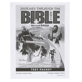 Christian Liberty Press, Journey Through the Bible Book 1 Test Packet, 53 Pages, Grades 7-8